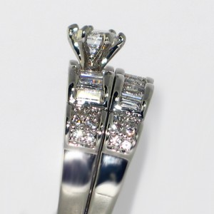 Dramatic 5.1 Carat CZ 2 piece bridal set