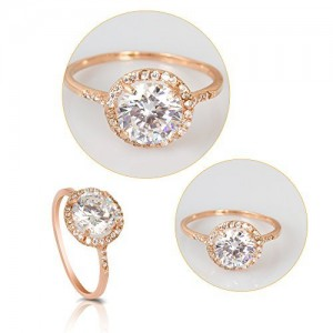 18K Rose Gold Plated CZ