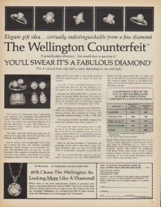 !971 Advertisement for Wellington Counterfeit Diamonds