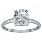 Tommaso Design White Topaz Solitaire Engagement Ring
