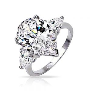 silver-cz-pear-engagement-ring