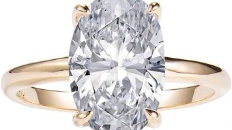 Lemon Grass Oval Solitaire Engagement Ring