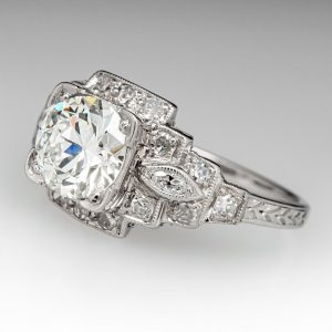 1930s Art Deco Engagement Ring