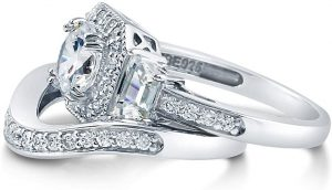 Berricle Art Deco Style Ring Set
